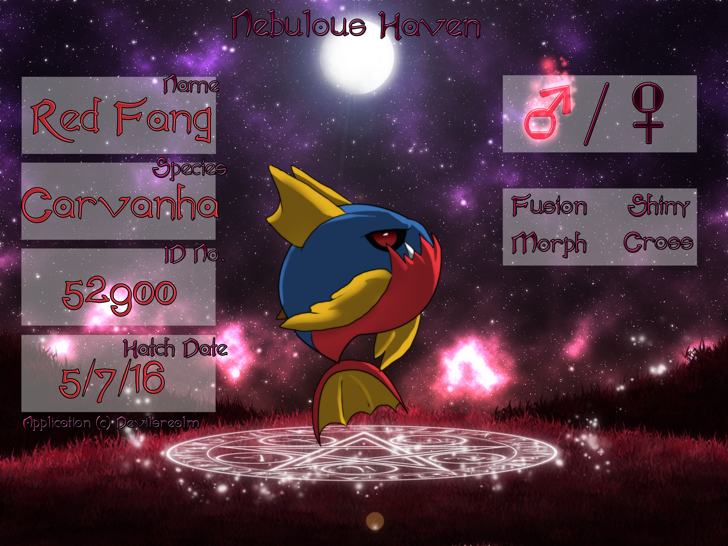 PKMN|Application|Red Fang| by DevilsRealm