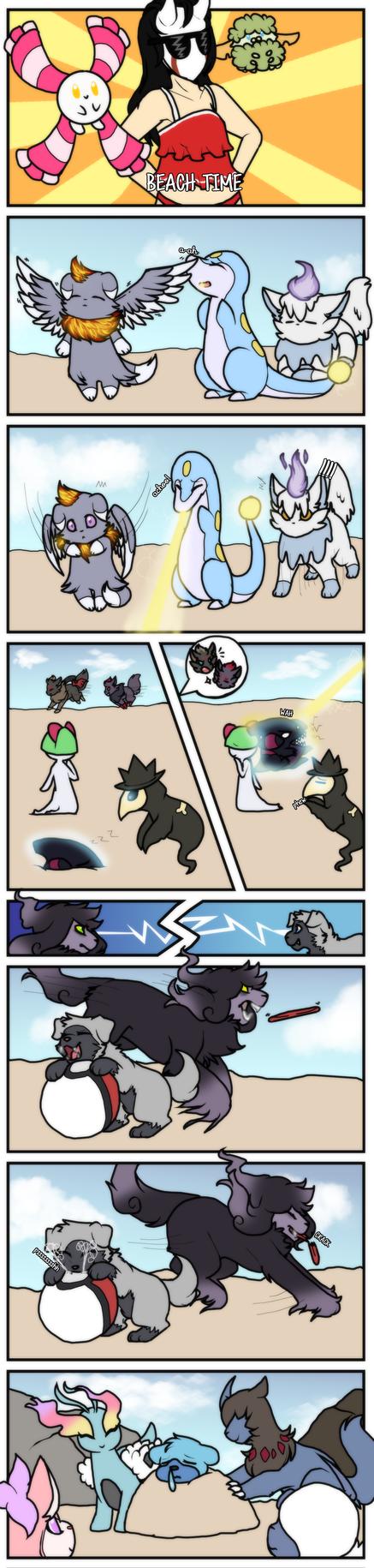 PKMN|Event| June: Beach Party by DevilsRealm