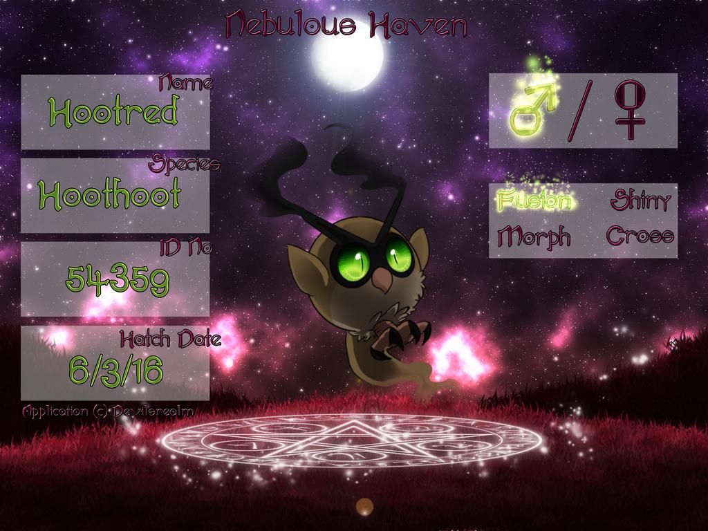 PKMN Application Hootred  by DevilsRealm