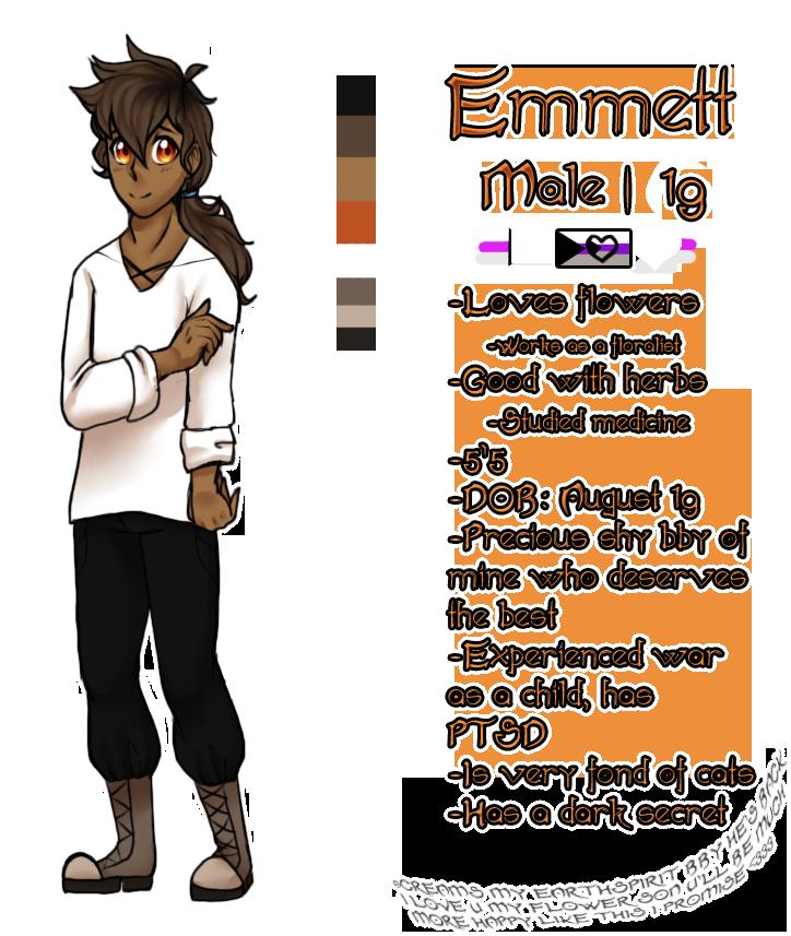 Mine| Character Ref |Emmett| by DevilsRealm