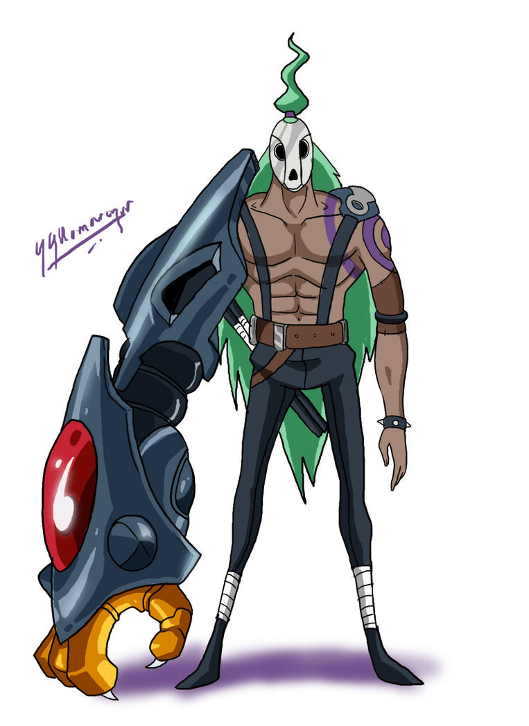 Cyborg OC character design by JazylH