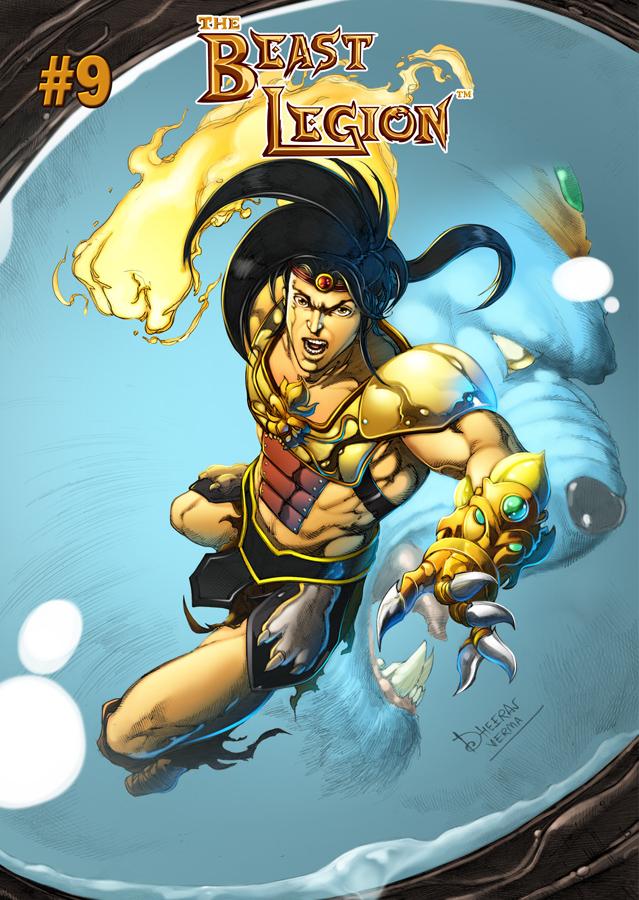 Beast Legion #9 Cover by Dheeraj Verma by JazylH
