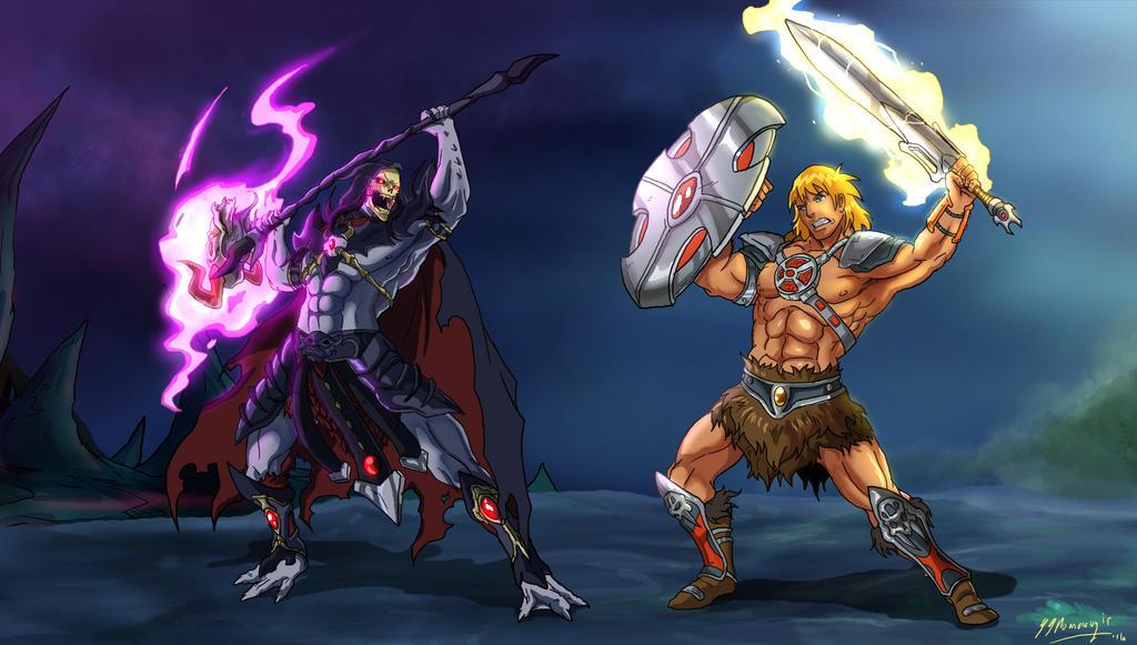 He-man vs Skeletor Anime Style by JazylH