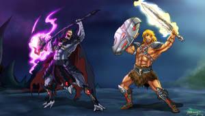 He-man vs Skeletor Anime Style