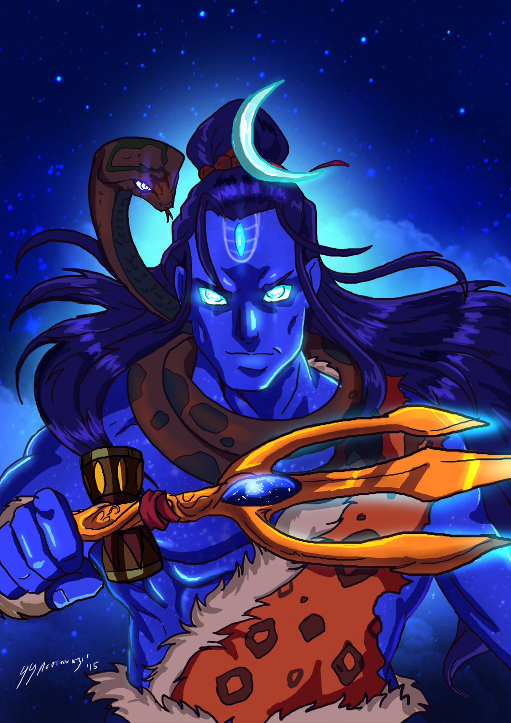 lord shiva psychedelic wallpapers hd