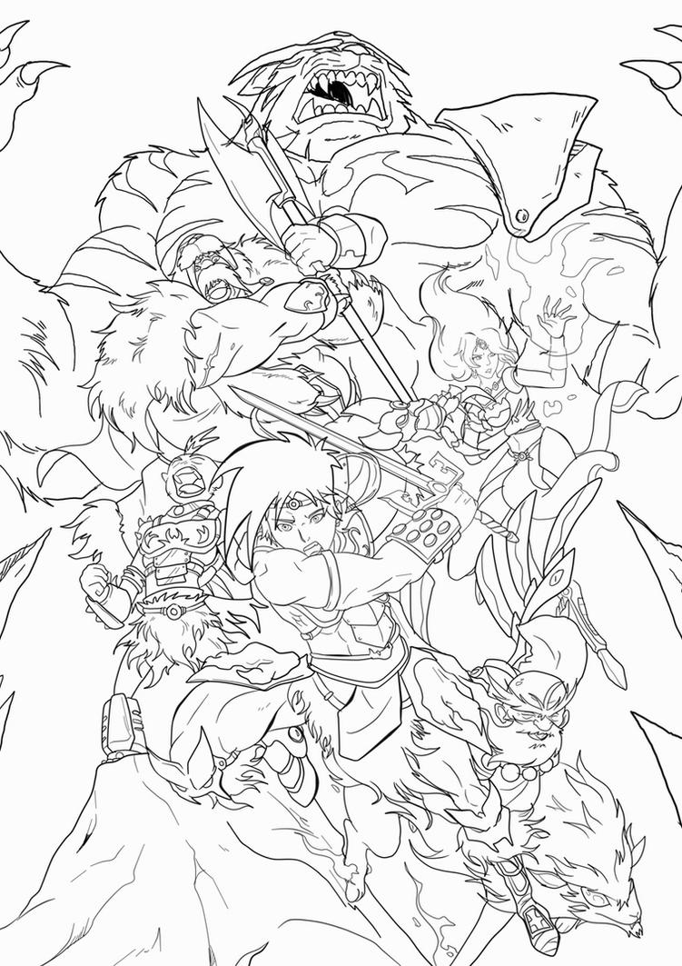 Beast Legion 5th Anniversary Lineart and Giveaway by JazylH