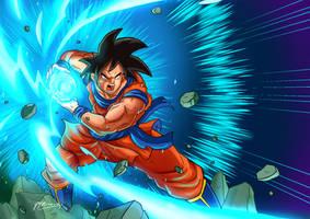 KAMEHAMEHA - Goku Poster Art by JazylH