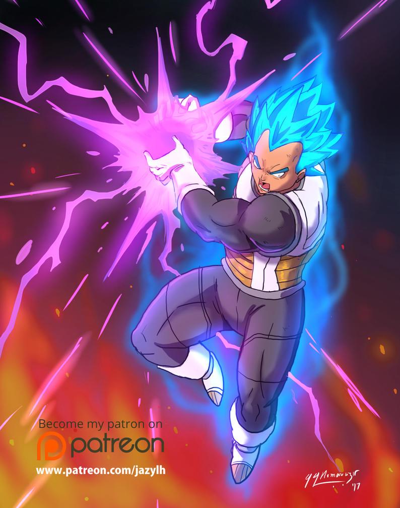 Vegeta SSJ Blue - Patreon  Reward Illustration #2 by JazylH