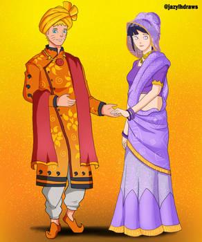 NaruHina in Indian Wedding attire