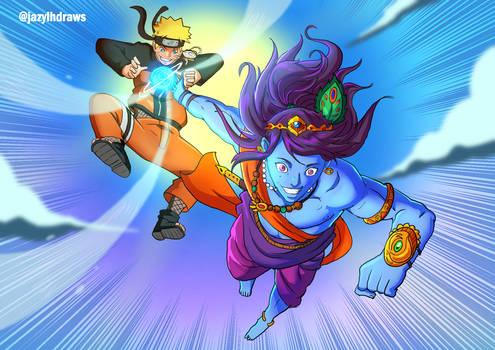 Anime X Mytho Naruto and Lord krishna