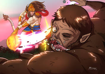 Anime X Mythology Hanuman Vs Beast Titan