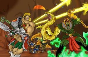 He-Man vs King Hss by JazylH