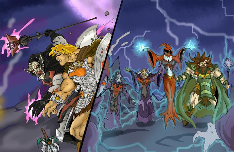 He-man vs Hordak by JazylH on deviantART