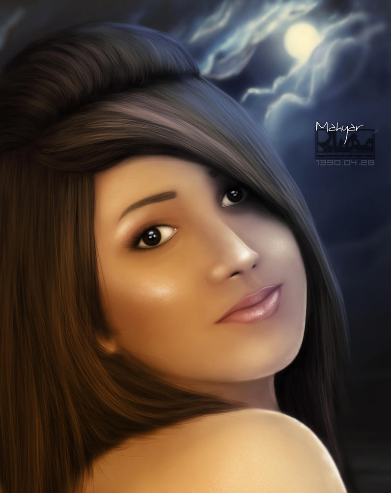 Persian girl by mhyr