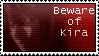 'Beware of Kira' stamp by Sonamus