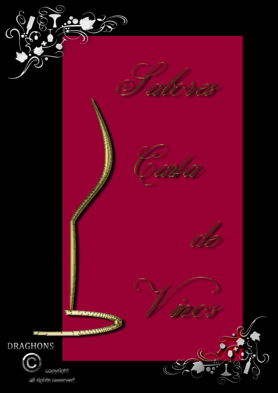Portada carta de Vinos by DRAGHONS