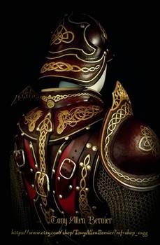 Leather Viking armor by Tony Allen Bernier