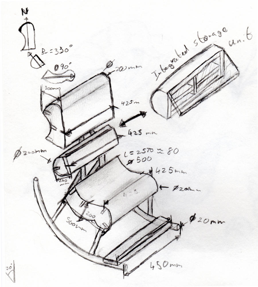 Chair design drawing -  Rockin Chair Design Sketch By Lordgarth6