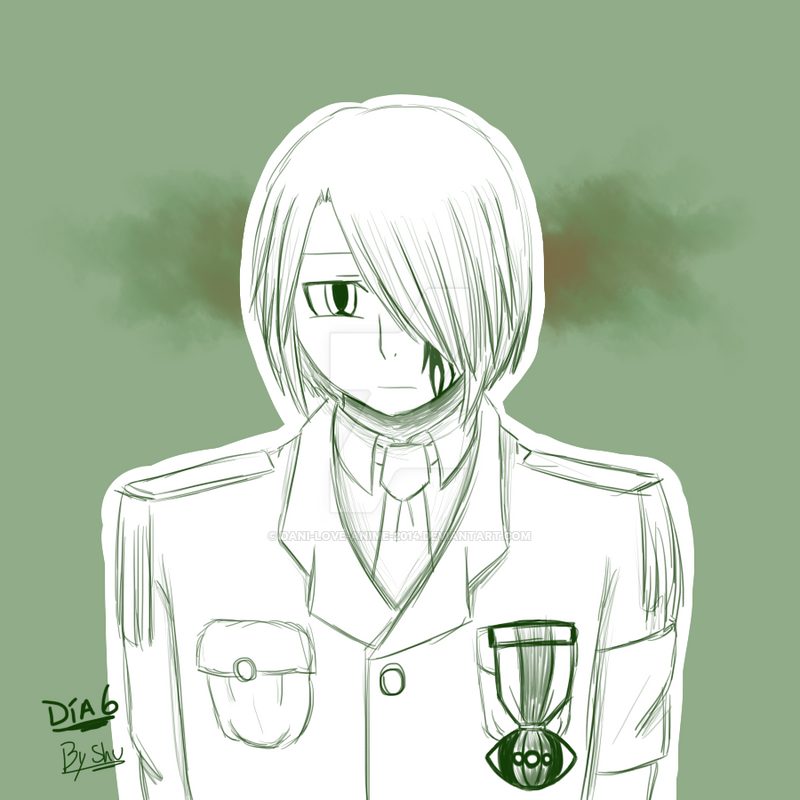 Dia 6 Traje militar by Dani-love-anime-2014