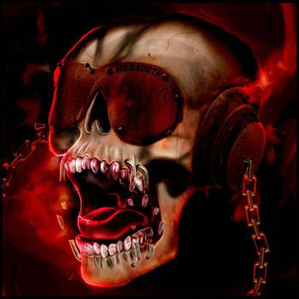 Skull with headphones by SouthernScot21