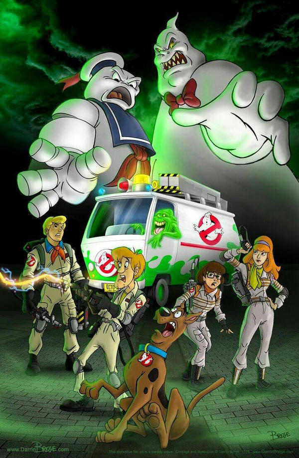 Scooby-Doo and Ghostbusters crossover by SouthernScot21