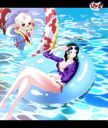 Cover- Hancock enjoying the pool by i-SANx