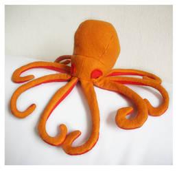 Orange Felt Octopus