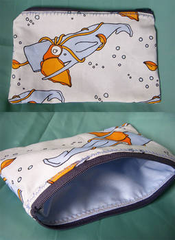Squid and Whale Pouch