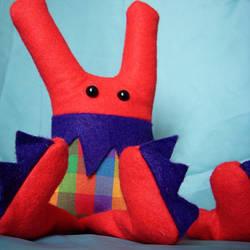 Red Pattern Tripod Monster