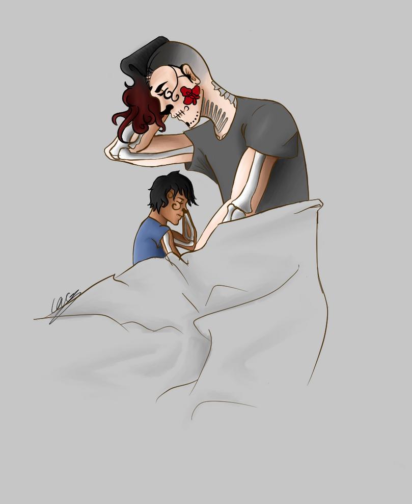 Sleeping Azrael by DaemonicMelody