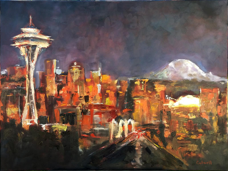 Seattle at Night by JeremyColwell