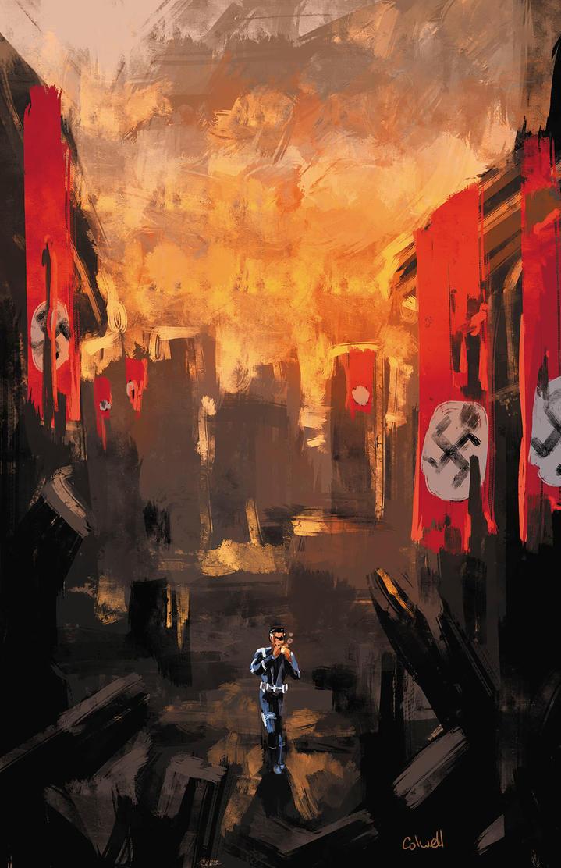 Nick Fury v Nazis by JeremyColwell