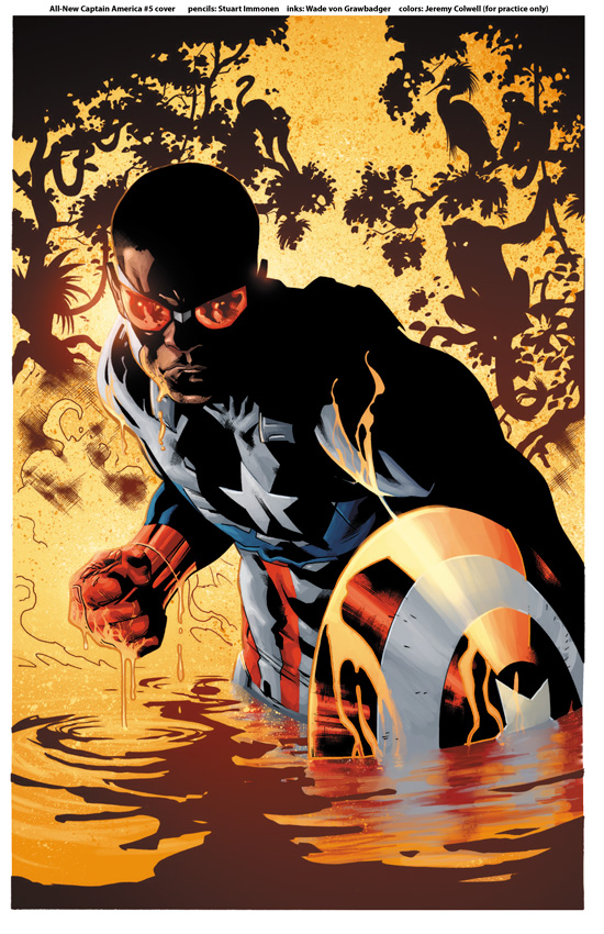 All-New Captain America #5 color warmup by JeremyColwell