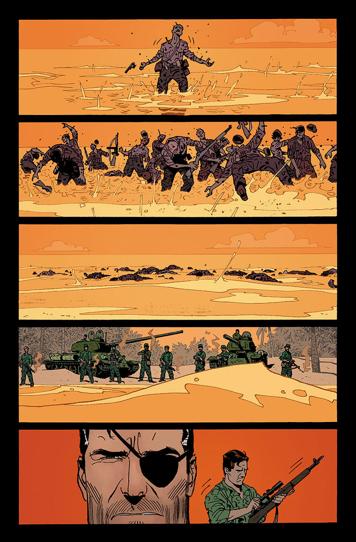 Fury MAX #5 pg18 color sample by JeremyColwell