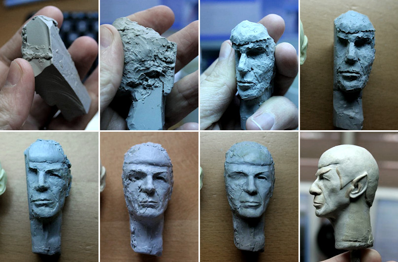 Spock sculpt - in progress by DarrenCarnall