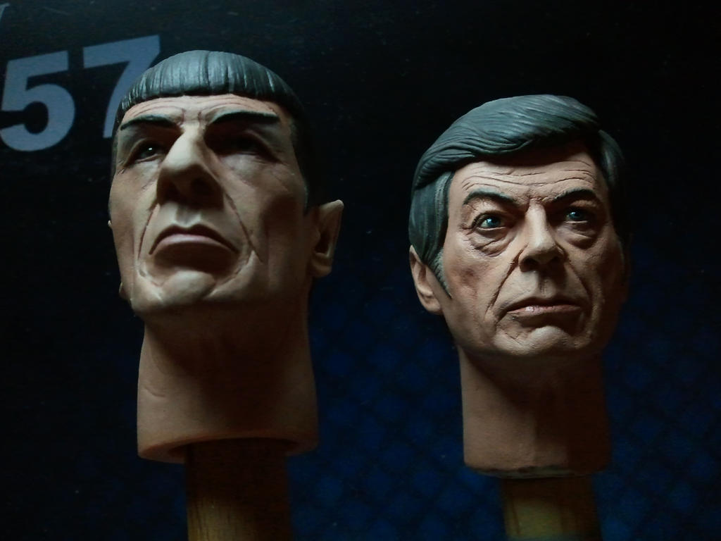 Spock and McCoy - Painted samples! by DarrenCarnall
