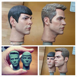 1/6 New Star Trek (2009+) Kirk and Spock paint job