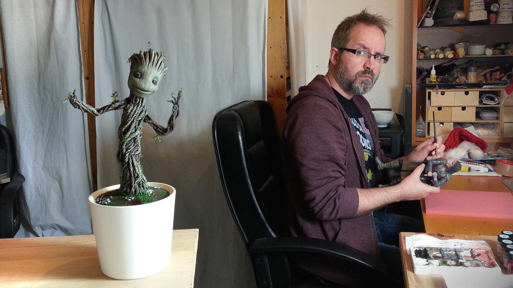Groot in my studio by DarrenCarnall