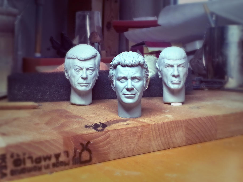 1/6 Admiral Kirk sculpt (resculpted half the face) by DarrenCarnall