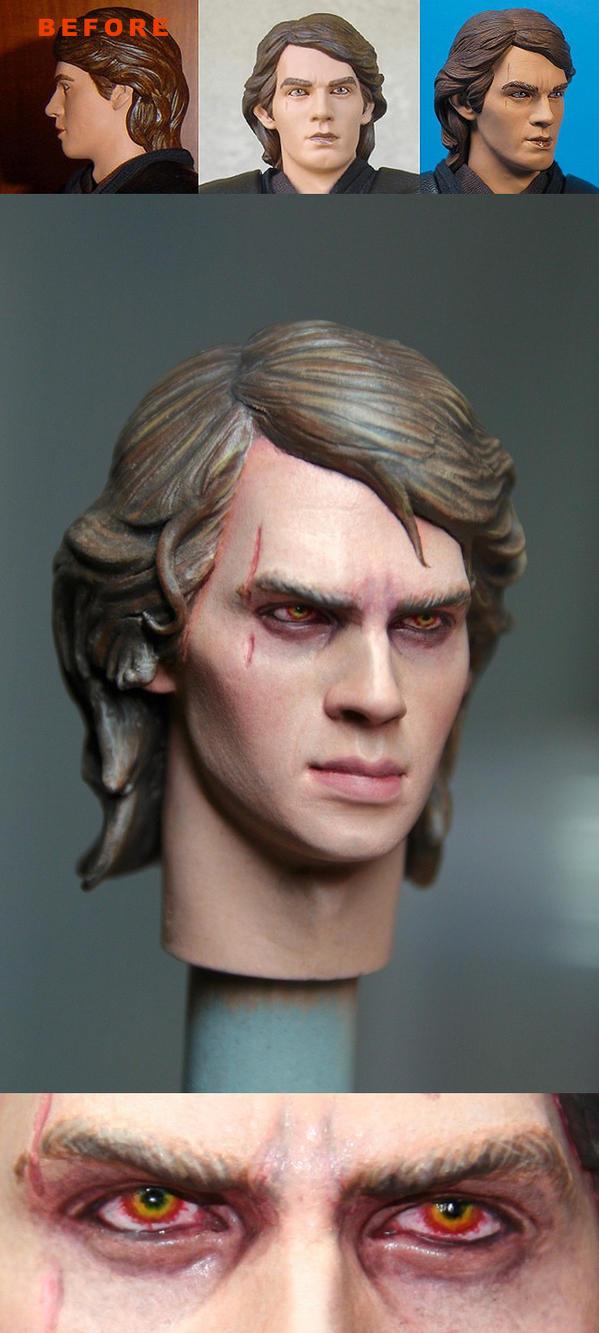 Anakin Skywalker 1/6 scale custom head by DarrenCarnall