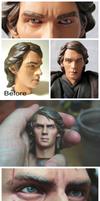 Anakin Skywalker (Jedi) 1/6 scale custom head
