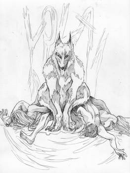 Wolf and I Lines by Caity-Mayhem