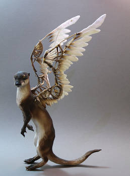 Otter with mechanical wings