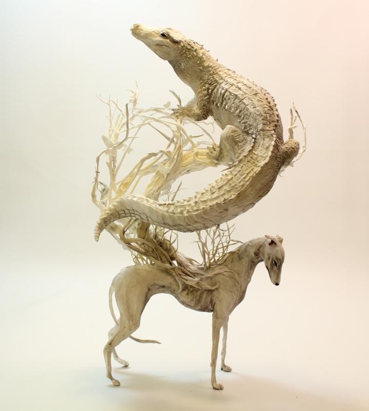 Greyhound Crocodilian - Lethal White series - OOAK
