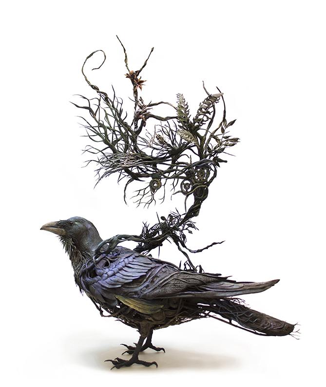 VRAC Corvid_iii___original_handmade_ooak_art_sculpt_by_creaturesfromel-d8loiak