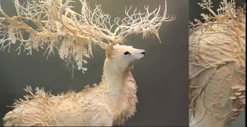 White Deer by creaturesfromel