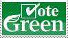 """Vote Green"" stamp by RealmKnight"