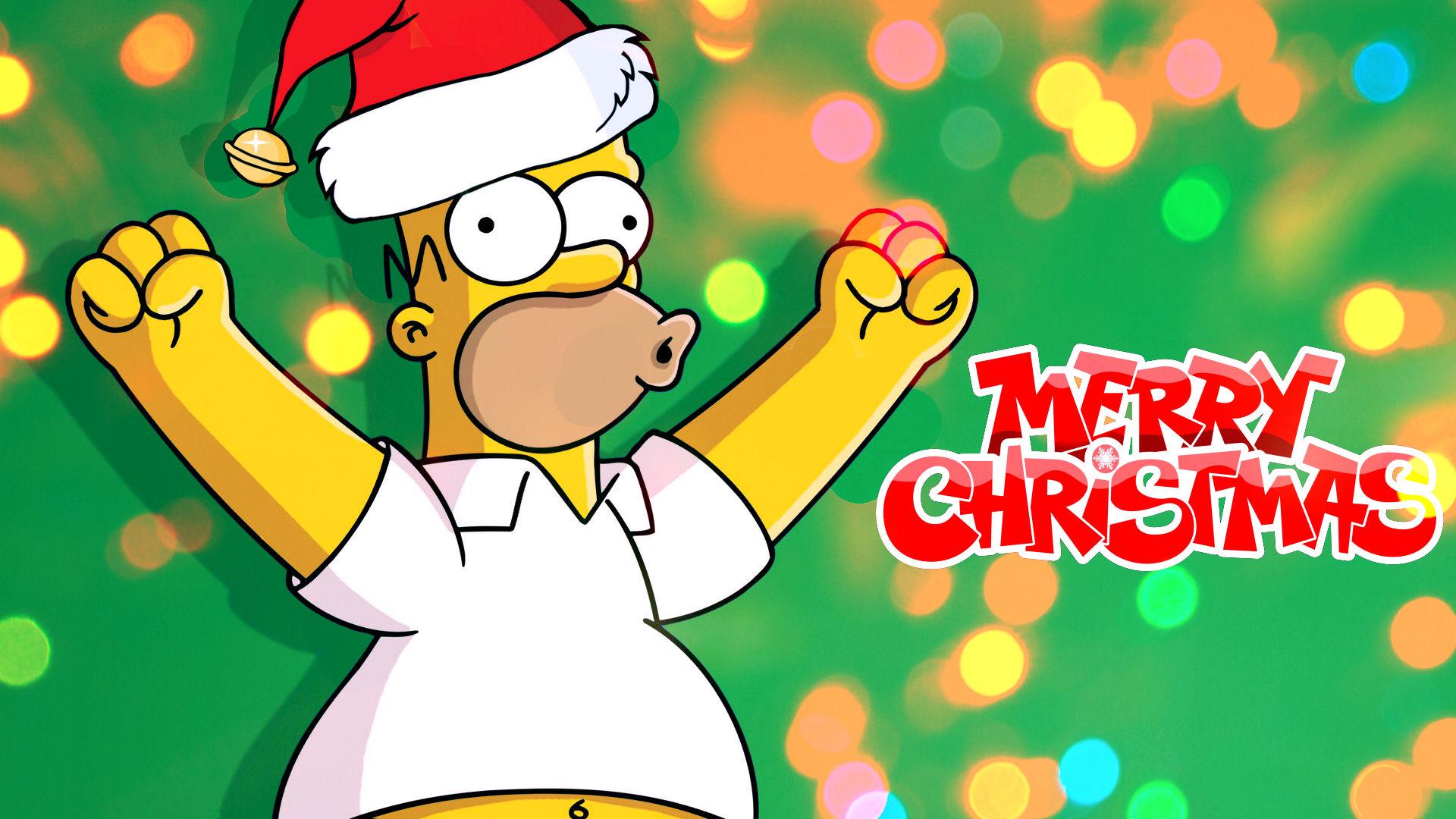 Uncategorized Simpsons Christmas Wallpaper the simpsons homers merry christmas wallpaper by nerosredqueen nerosredqueen