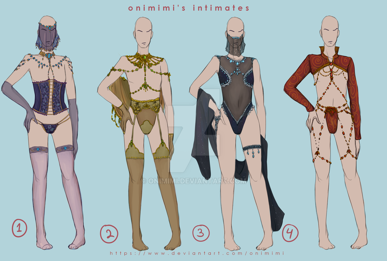 ... Outfit Adoptables - Male Lingerie by Onimimi 9992d4d79