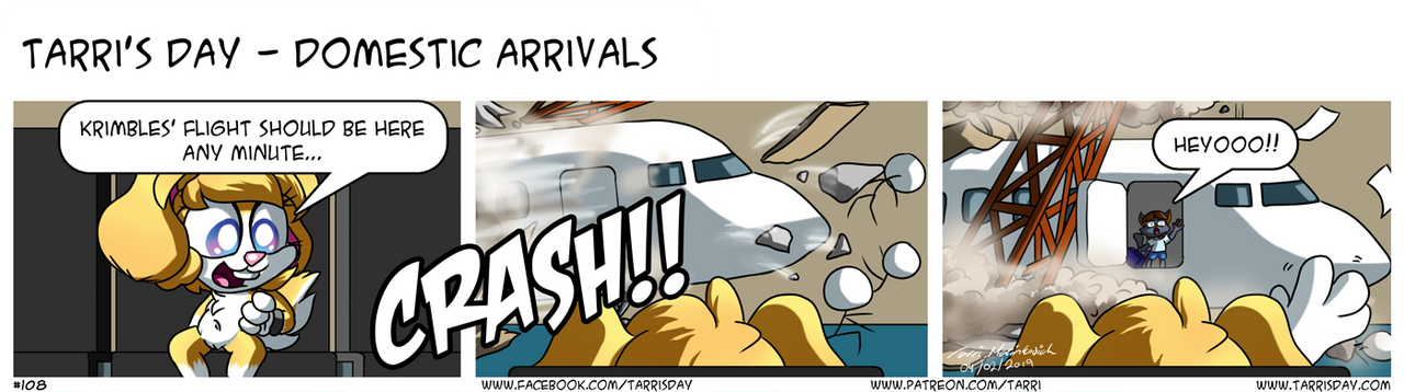 Tarri's Day - Domestic Arrivals by TarriPup